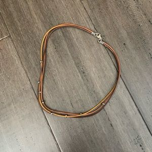Silpada leather and sterling silver necklace